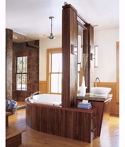 Photo: Alan Shortall | thisoldhouse.com | from Central Fixures Transform an Open Bath into an Intimate Retreat