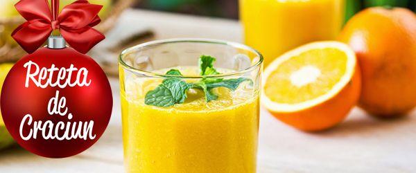 Smoothie de mango si portocala
