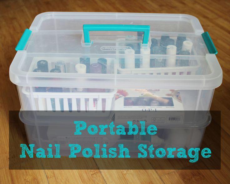 Nail Polish Organization + Nail Care tips