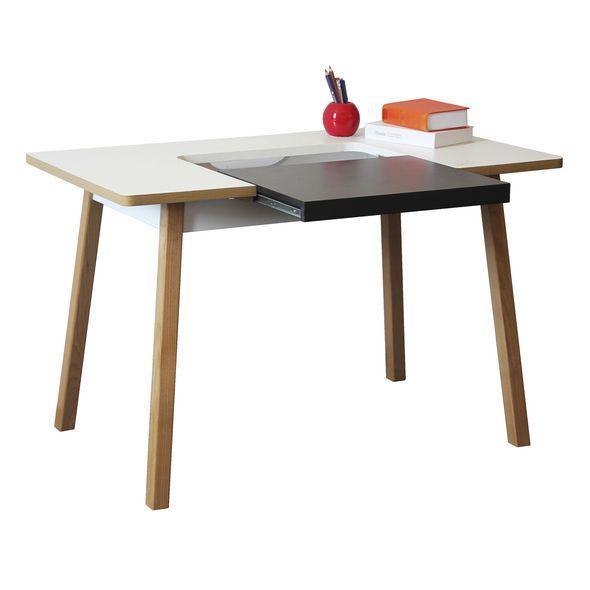 Hummingbird Evoque Slide Out Desk White Natural Looooove this desk!