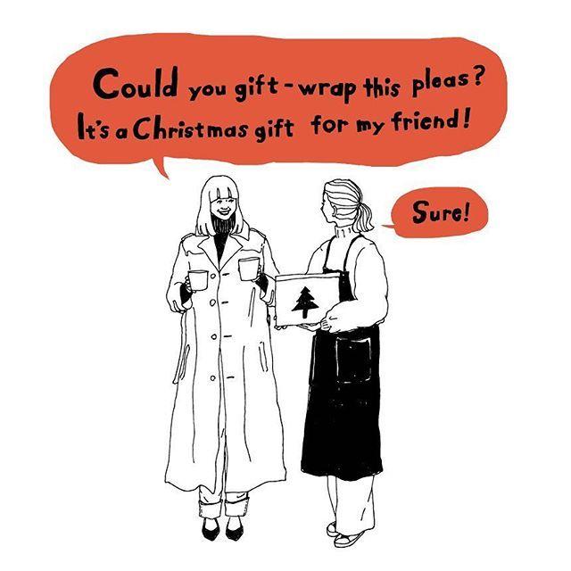 〜旅に役立つワンフレーズ〜 …………………… 『Could you gift-wrap this please? It's a Christmas gift for my friend!』 (プレゼント用にして頂けますか?友達のクリスマスプレゼントなんです!)  『Sure!』 (ええ、もちろんです!) …………………… メリークリスマス!プレゼントのラッピングをお願いしたい時は、店員さんにこう伝えましょう。お誕生日プレゼントのラッピングをお願いしたい時にも使えるフレーズです。  Illustration by:@sayurinishikubo |American Tourister|  #アメリカンツーリスター #americantourister #アメツー #スーツケース #suitcase #旅行カバン #旅行 #旅 #travel #travelgram #trip #女子旅 #girlstrip #英語 #英語の勉強 #英会話 #女子旅 #旅に役立つワンフレーズ #luggage #traveller
