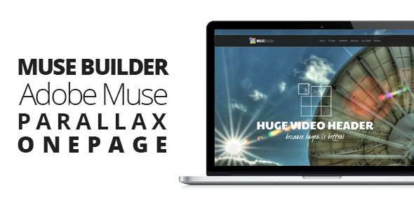 Muse Builder | Parallax OnePage Muse Template