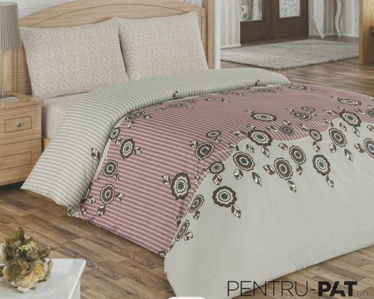 Set cuvertura pat pentru o persoana Anatolia beige