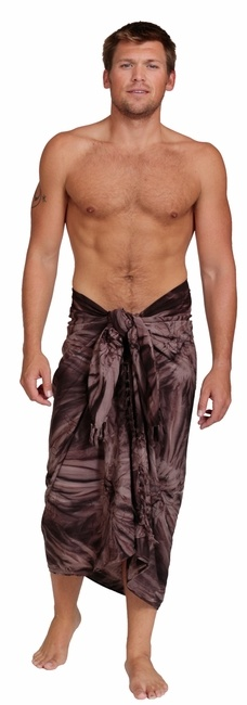 $21.99 Men's Embroidered Tie Dyed Sarong in Brown. Buy this sarong from…