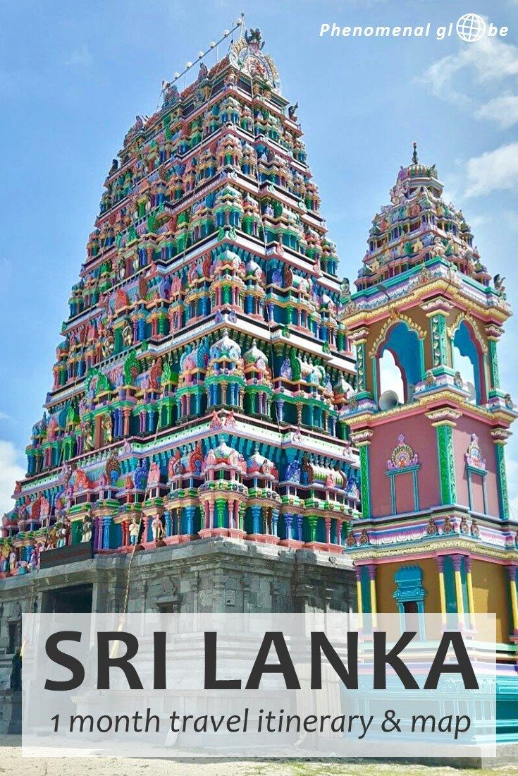 1 month travel itinerary to plan a perfect trip to Sri Lanka! Map + detailed information how to get from A to B (incl. Ella, Sigiriya, Kandy, Jaffna & more).