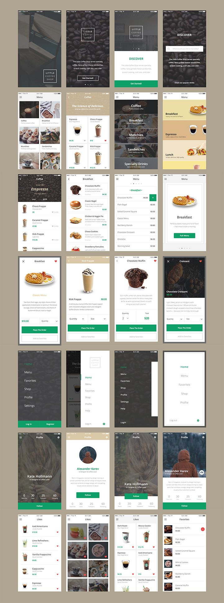 An exclusive free UI kit for e-commerce app created at Five agency. This kit - designed in Sketch - is the first of five. - Detailed image