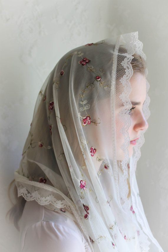 Evintage VeilsSt Therese Little Flower Veil Lace by EvintageVeils