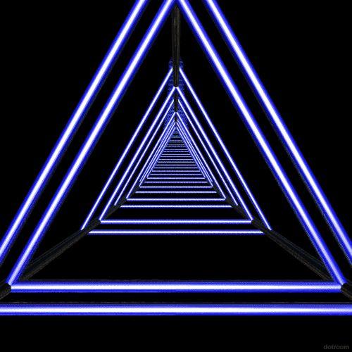 // neon // light // triangles //