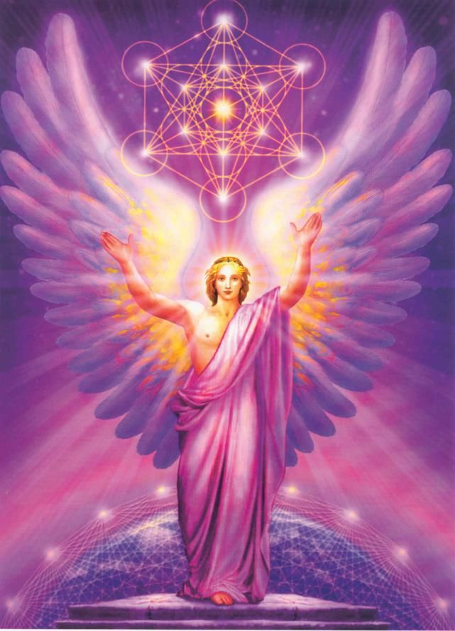 "Archangel Metatron (""MET-uh-tron""). ""Angel of the Presence."" Distinguished as having once walked the earth as a human being, Metatron ascended to archangeldom as a natural consequence of having walked with God consistently his entire life. He can helps you move beyond so-called limits of the human condition, including helping you literally speed up time or slow it down."