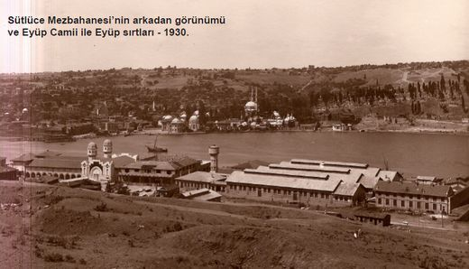 SÜTLÜCE MEZBAHASI - 1923 , Mimar: Ahmet Burhanettin, Fıtri, Marko Logos. Kentin et gereksinmesinin çağdaş donanımlarla karşılanmasına yönelik ilk girişimdir. Yapımda kullanılan çelik strüktürler, tuğla ve kiremitler yurtdışından getirtilmiştir. Türkiye'nin endüstri arkeolojisi çalışmalarına nesne olabilecek en erken tarihli modern tesislerinden biridir. Haliç rehabilitasyonu çalışmaları kapsamında teknik donanımıyla yıktırılmış, eklerle yeniden inşa edilmiştir. Şu an Haliç Kongre Merkezidir.