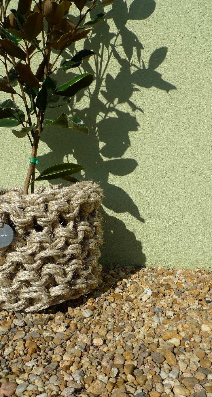 Indoor/Outdoor pots, knitted sisal by Wic & Folk