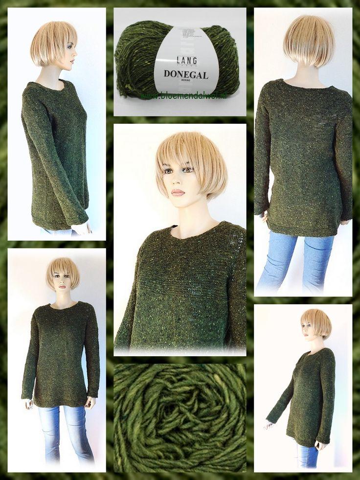 *11018* Antler patroon van Ankestrick: een top-down trui is een heel mooi model: dit patroon vergt nogal wat concentratie maar is beslist de moeite waard. Na het volgen van de gevorderden workshop top-down breien moet dit zeker te doen zijn. Grote kans dat je Corine in deze trui tegen komt in haar winkel. Gemaakt met Donegal van Lang yarns: http://bloemendalwol.nl/nl/lang-yarns/125-lang-donegal.html — met Corine Bloemendal en LANG YARNS.