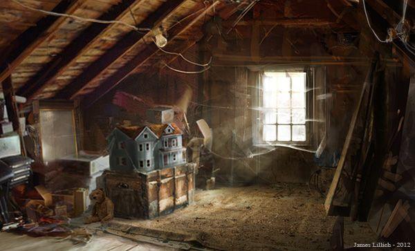 Cobwebs Dusty Attic An Old Victorian Dollhouse Lay