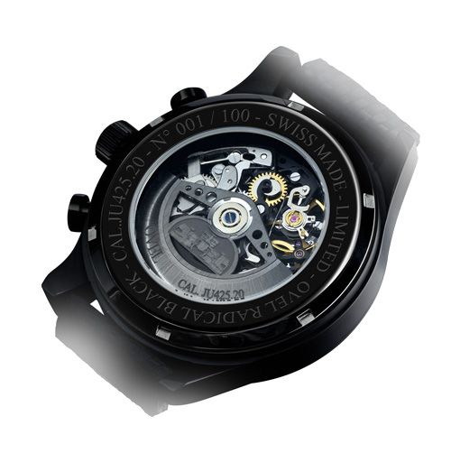 New OVEL watch limited edition a hundred pieces with wonderful Swiss skeleton movement  OVEL the Black Radical (PR/Pics http://watchmobile7.com/data/News/2013/03/130309-ovel-black_radical.html) (4/4)