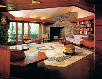 prairie style interior usonia home general pinterest