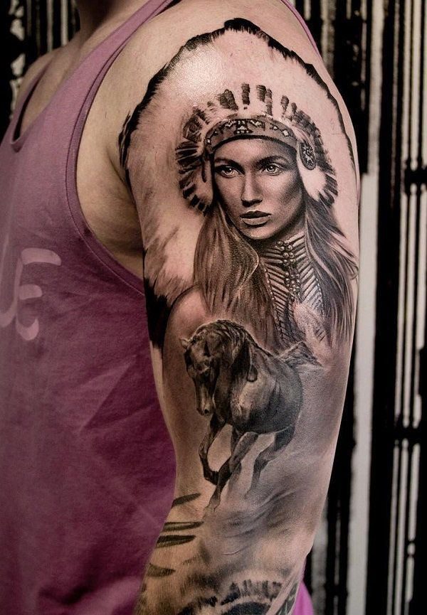 70 Native American Tattoo Designs Art And Design Native American Tattoo Native American Tattoo Designs Native American Tattoos