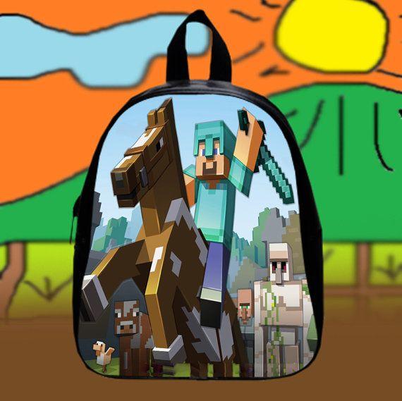 #Minecraft #Horse #Cartoon #Games  Custom SchoolBags by KopiHitam55