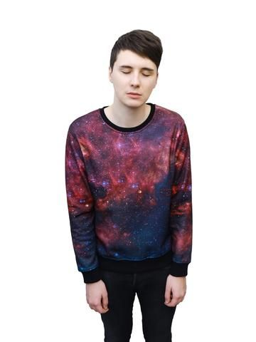 Galaxy Sweater { come with me to my pinterest party we have tea and aesthetic stuff }
