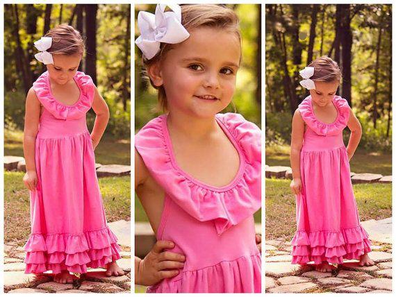 Toddler Maxi Dresses // Young Girls Maxi // Bubblegum Pink by AdalynsBoutique, $34.99  www.adalynsboutique.com