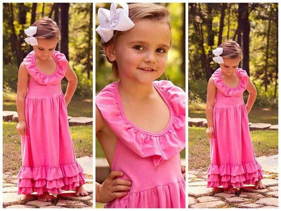 Toddler Maxi Dresses // Young Girls Maxi // Bubblegum Pink by AdalynsBoutique, $34.99  www.adalynsboutique.com