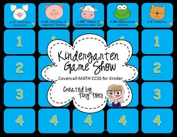 Kindergarten SMART Board Game Show FREEBIE :: Includes ALL Common Core MATH