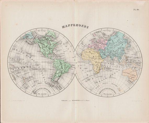 25 best Antique Maps images on Pinterest Antique maps, Old maps - new antique world map images