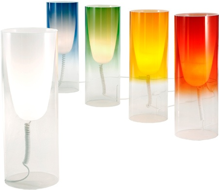 toobe table lamp  Design Ferruccio Laviani, 2007.  Polycarbonate, dyed PMMA.  Made in Italy by Kartell.