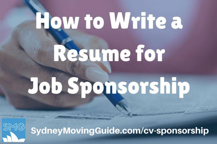 How to Write a Resume for Job Spnosorship in Australia