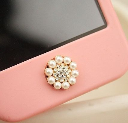 国内発送 iphone5/4/4s アイフォン ホームボタン 人気 携帯デコ