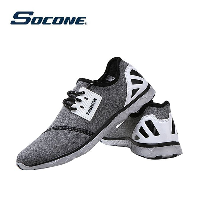 SOCONE Brand Light Running Shoes Men and women EVA Sports Shoes run shox Breathable Comfortable Mesh Slip-On Water Shoes