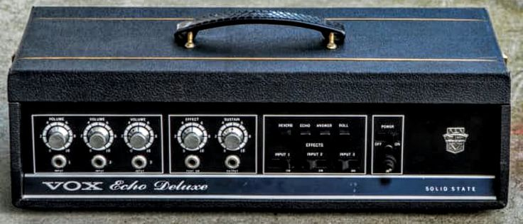"'66 VOX (Thomas Organ) V 837 Echo Deluxe. SS TAPE DELAY with 6 PLAYBACK HEADS!  ""Echo"", ""Reverb"", ""Answer"", ""Roll"" controls. A few of the Thomas Organ Group ""Vox""were cool & this is one of 'em."