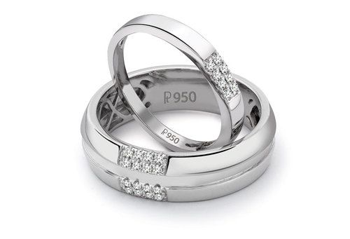 Designer Platinum Love Bands SJ PTO 120 by Jewelove Female band ₹ 18,000 only!  https://www.jewelove.in/products/simple-2-4-row-platinum-love-bands