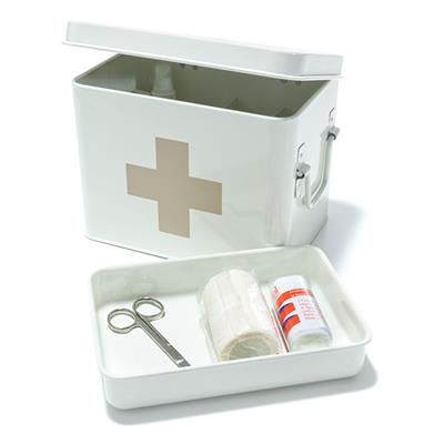 need one of these all our medicine is all over the house haha -  Image for Homemaker Medical Tin from Kmart