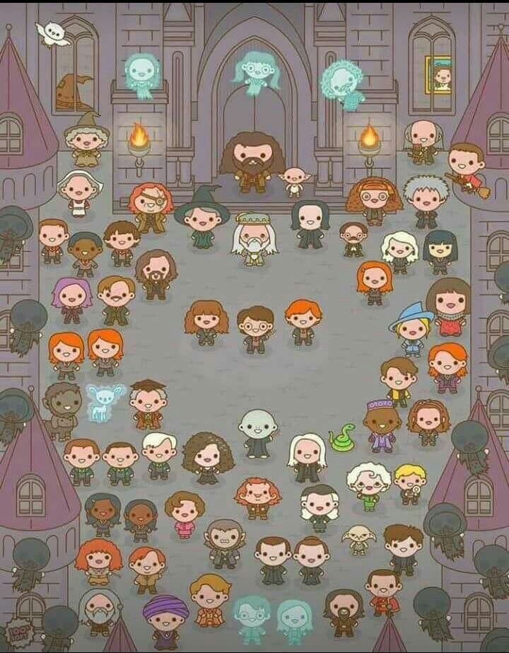 HP chibi art. this is awesome, idc where it came from ♥
