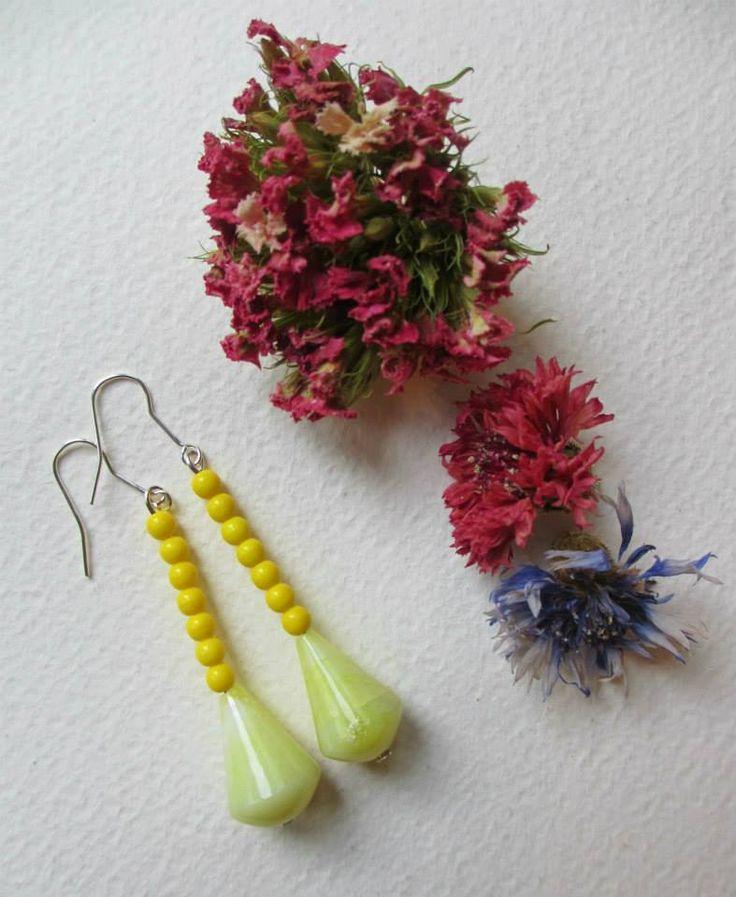 Yellow chic earrings  #earrings #fashion #colorful #handmade #bohemianjewelry