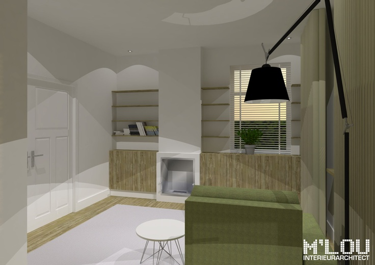 Project: Verkoopvisualisatie te Wessem (Limburg) - impressie woonkamer... M'lou interieurarchitect