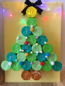 100均クリスマス工作♪紙コップと折り紙で簡単!手作りクリスマスアドベントカレンダーの作り方③♪お子様とクリスマスまでのカウントダウンを楽しもう♪