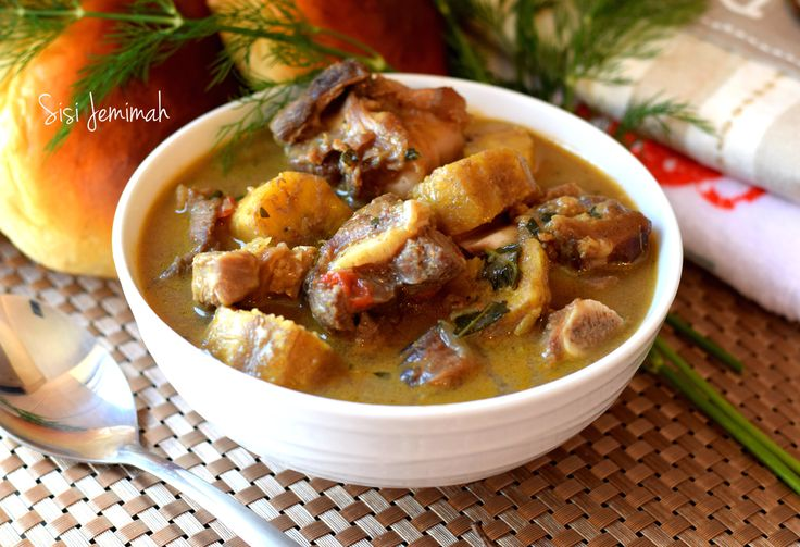 Goat Meat And Plantain Pepper Soup