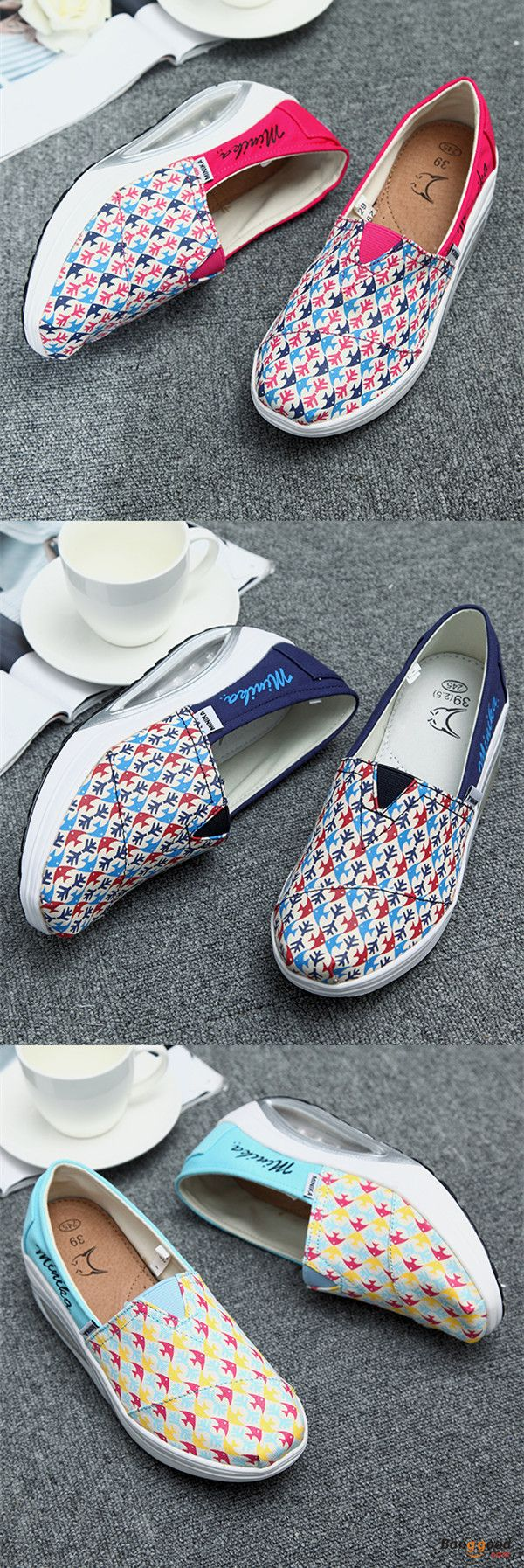 US$29.88 + Free shipping. Size(US): 5~9. Flat Shoes, Shoes for Women, Outdoor Athletic Shoes, Womens Fashion, Womens Shoes, Summer Outfits.Color: Blue, Red, Dark Blue. Upper Material: Canvas. Casual and comfortable! Love style!