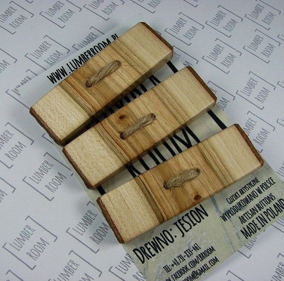 Set of 3 Oak Toggle Buttons, Natural Edge, Handmade from reclaimed wood, organic, natural finish.