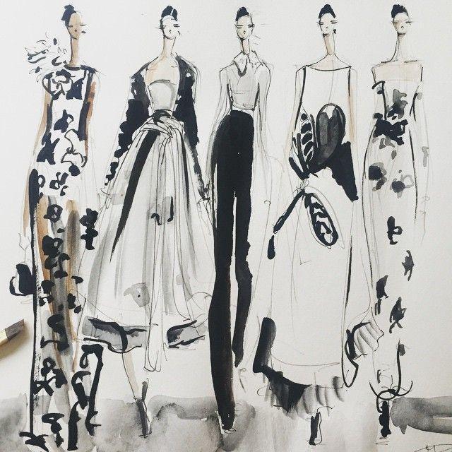 Fashion illustration - stylish fashion sketches // Jeanette Getrost