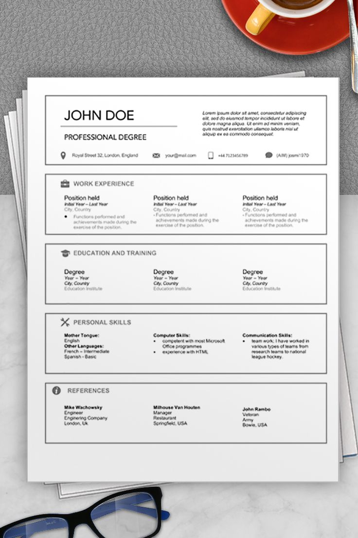 Download this australia cv example to stand out in your