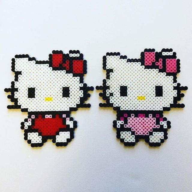 Hello Kitty perler beads by the_perlair