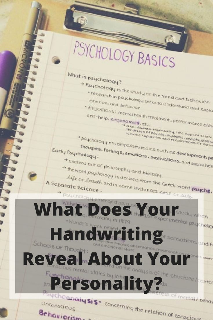 What Does Your Handwriting Reveal About Your Personality?