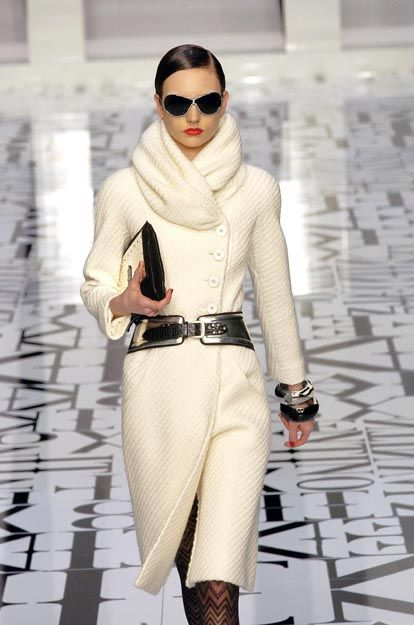 Love a white coat. This one's Valentino