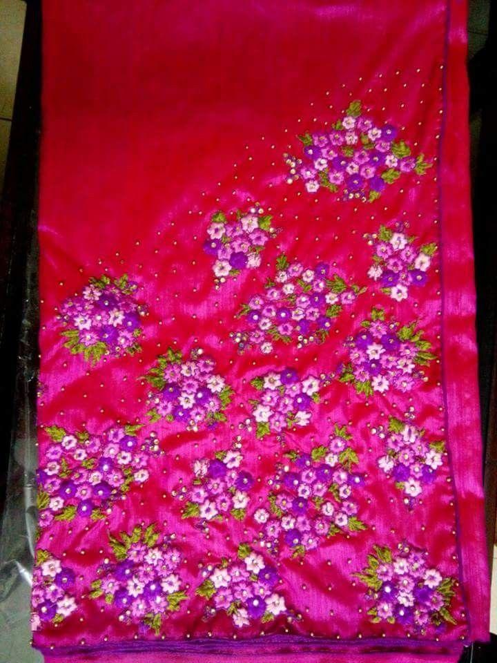 Pin By Clara Treassa On Hand Work Ideas On Saree Embroidery Saree