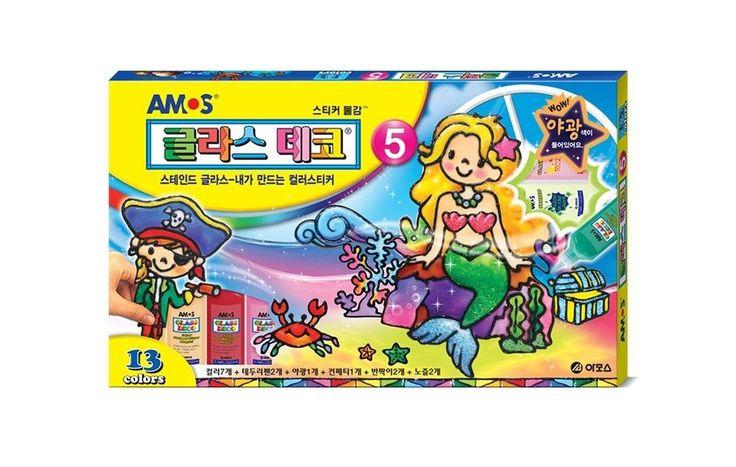 Window Paint Sticker Glass Deco 5 for Kid AMOS Magic Art 12 Colors DIY #AMOS