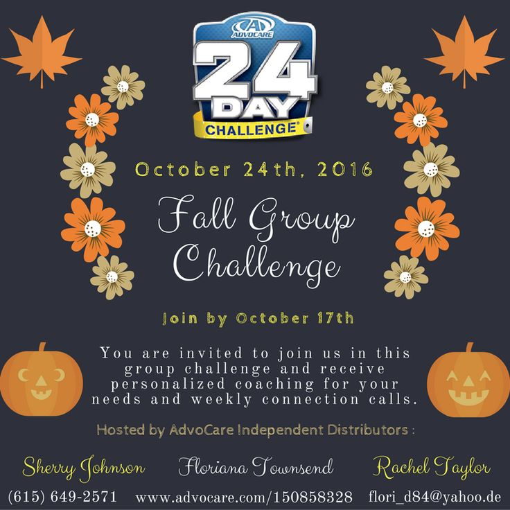 late to join! We are starting another group AdvoCare 24-Day Challenge ...