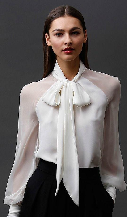 stylish blouses-Badgley Mischka Pre-Fall 2015