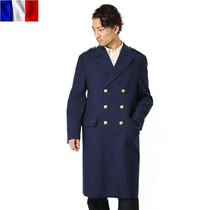 【楽天市場】ミリタリー 実物 新品 フランス軍NAVYギャバジンオーバーコート メンズ mss WIP:ミリタリーセレクトショップWIP